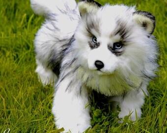 Husky Luna - realistic stuffed animal toy