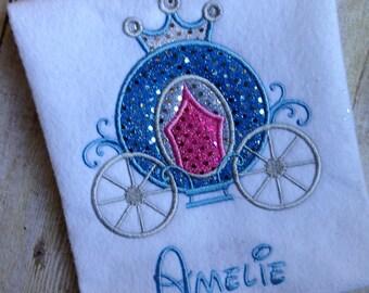 So Cute! Princess Carriage Applique Shirt or Onesie