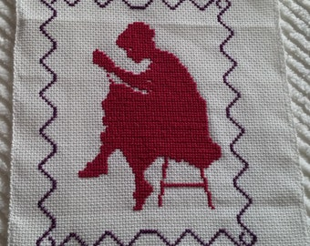 Picture woman embroidery