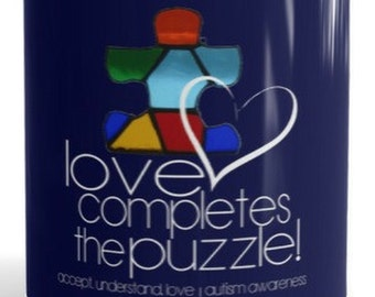 Autism Awareness 'Love Completes the Puzzle' Mug