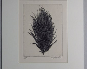 Feather 1, Drypoint Etching, Limited Edition of 15