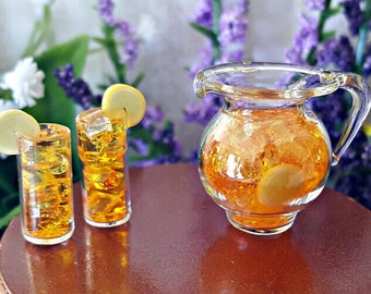 Miniature Iced Tea - Pitcher and 2 Glasses