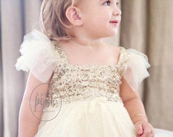 flower girl dress, ivory gold flower girl dress, ivory flower girl dress, flower girl dresses, fancy flower girl dress, country flower girl