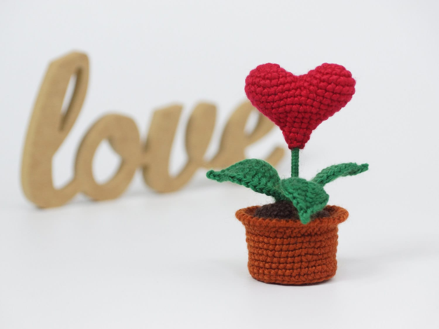 valentines day gift girlfriend gift red heart in pot gift for