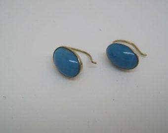 Victorian gold and turquoise earrings