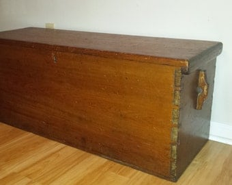 Antique Pine Sea Captains Chest