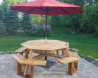 Cedar Octagon Picnic Table