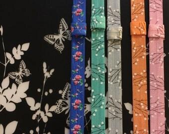 Floral Elastic Planner Bands/Bookmarks
