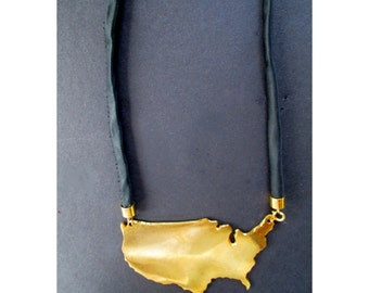 USA MAP Pendant Necklace