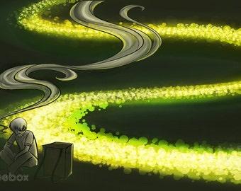 Print | Light River (Mushishi)