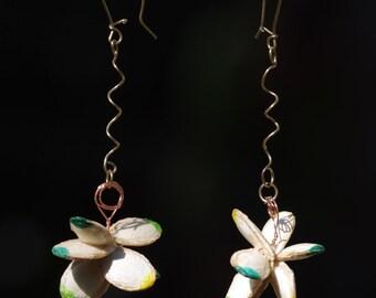 Gourd seeds bouquet earrings