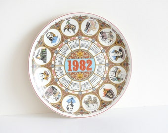 Wedgwood calendar plate 1982 Wild West| collectible year plate