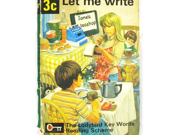Let Me Write by W.Murray with illustrations by Martin Aitchison. Book 3c The Ladybird Key Words Reading Scheme, 1972