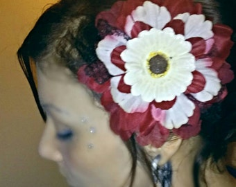 Classic Bold-Color Rockabilly Pinup Hair Flower
