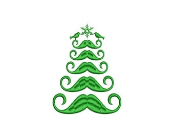CHRISTMAS TREE - machine embroidery design - Instant Download