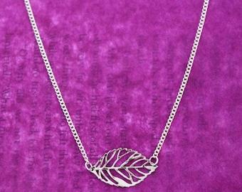 Leaf Necklace, Leaf Jewellery, Silver Leaf, Silver Necklace, Silver Jewellery, Woodland Necklace, Nature