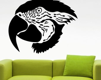 Parrot Wall Decal Bird Stickers Animal Decorations Home Living Room Bedroom Decor Vinyl Wall Art Removable Waterproof Sticker 1epai