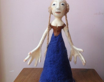 RESERVED Art doll - Needle felted - OOAK - Collector's item