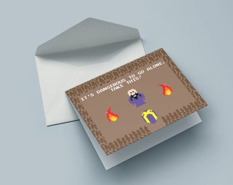 Take this - the birthday card for nerds, geek & gamer