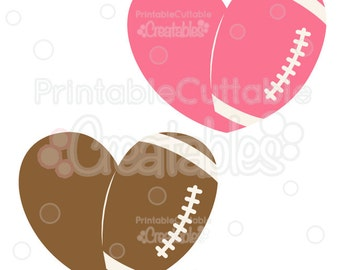 Love Football SVG Cut File & Clipart - Includes Limited Commercial Use!