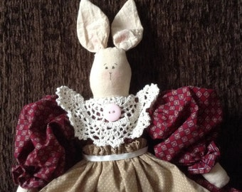 Country rabbit,Rabbit,Primitive rabbit,Primitive rabbit doll,cloth rabbit,Country rabbit doll