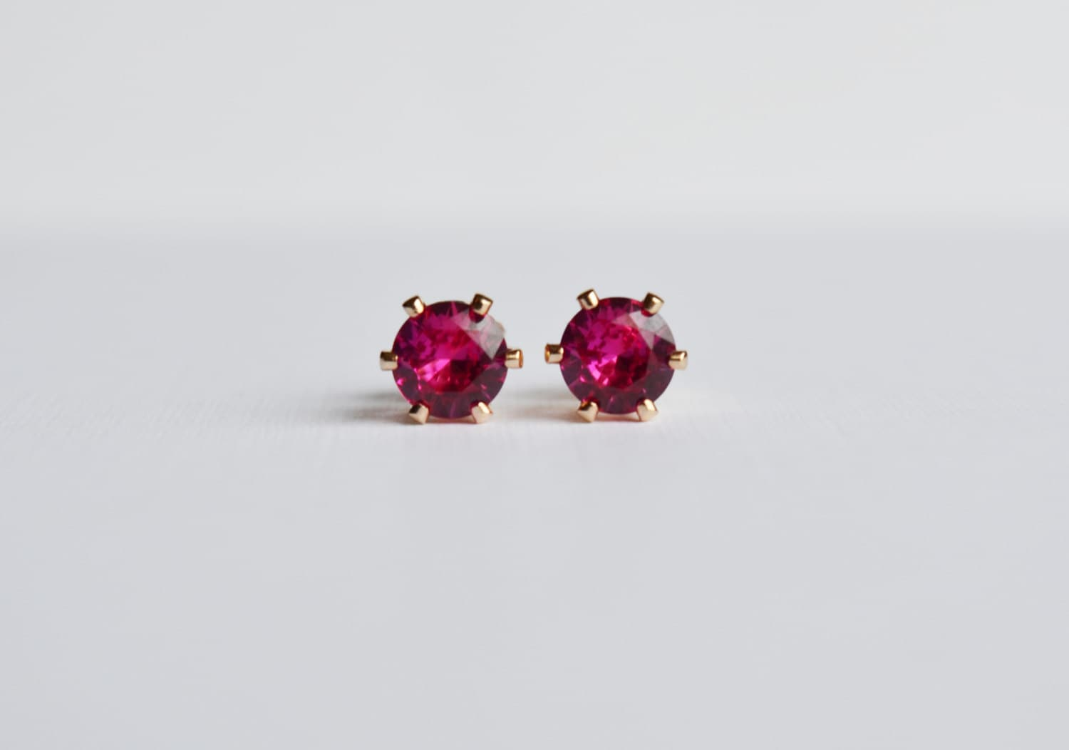 ruby stud earrings 14kt gold filled ruby post earrings july. Black Bedroom Furniture Sets. Home Design Ideas