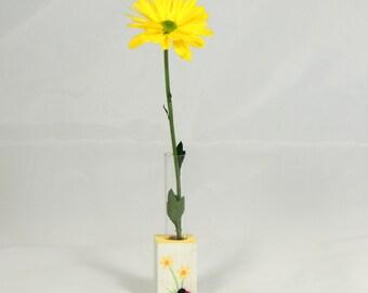 Test Tube Vase Ladybug Mini Vase