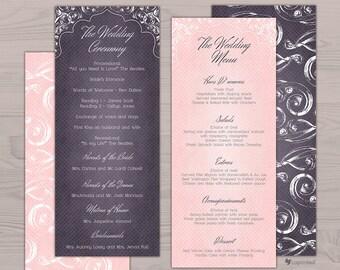 Lace Charm Wedding Program