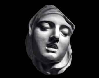 Bernini 'Ecstasy of St Teresa' - Plaster Cast // Baroque Female Head // Antique Sculpture // Replica // Wall Hanging // Home Decor // Art
