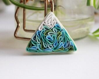 Mountain brooch, Mountain jewelry, polymer clay Mountain, Mountain pin