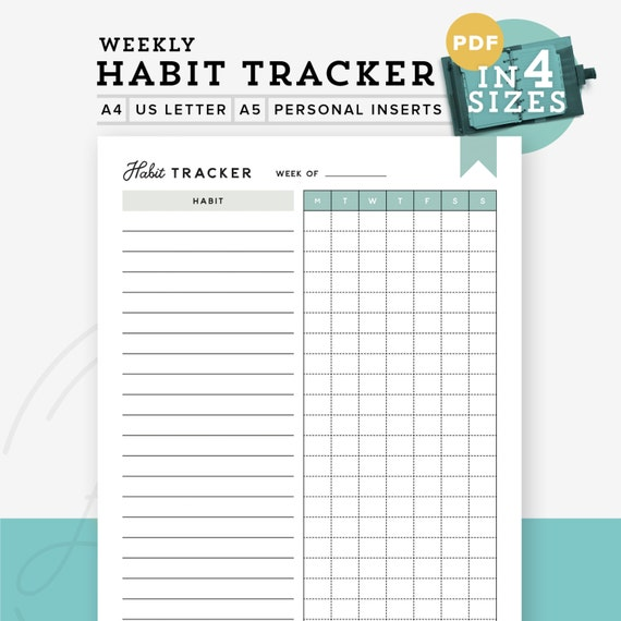 Gutsy image in printable habit tracker