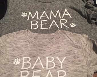 Mama Bear and Baby Bear Shirts