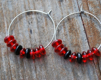 Red and Black Hoops