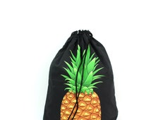 Pineapple Black Gym Bag - hannisch