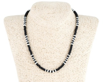coco wood and puka shell necklace