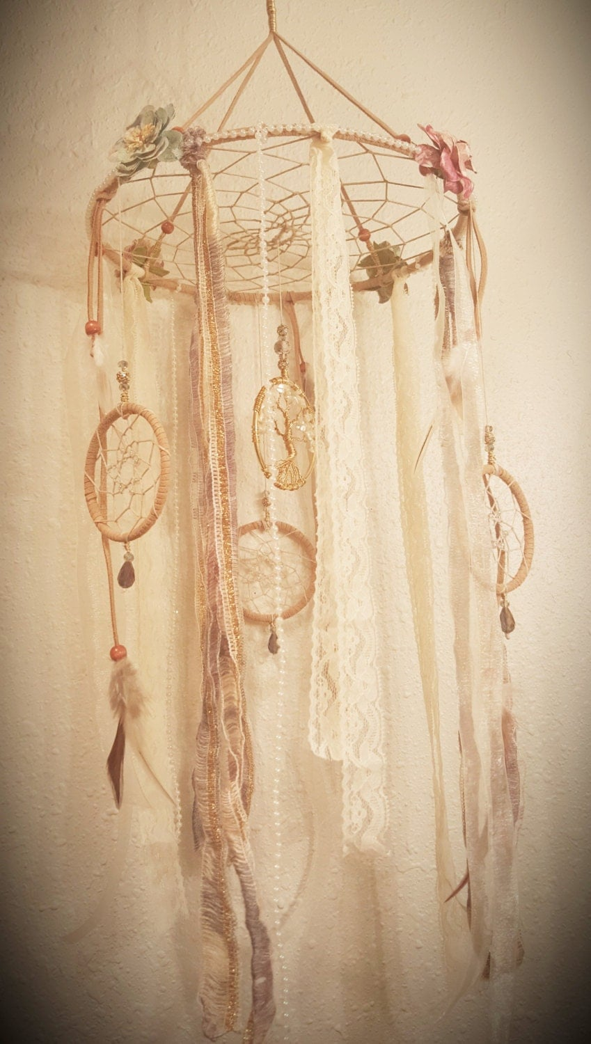 Tree Of Life Dream Catcher Mobile Mother Of Pearl Tree Of