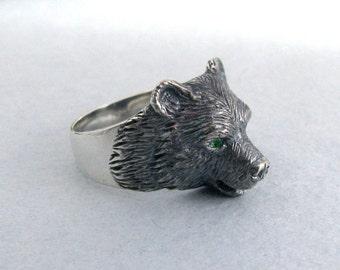 Bear Ring.Viking Ring.Viking Bear.Silver Bear Ring.Scandinavian Ring.Bear Charm.Bear Jewelry.Silver Bear Jewelry.Silver Bear Necklace.Bear