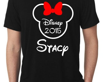 Disney Family Shirts, Mickey or Minnie Outline Shirts, Disney Custom Family Shirts, Personalized Disney Vacation Shirts