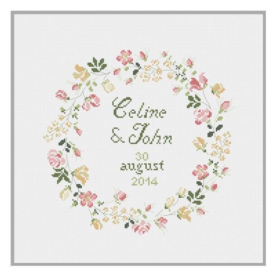 wedding celebration cross stitch pattern pdf download