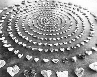 Heart Rock Spiral
