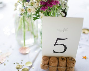 Cork Table Number Holders (Champagne)