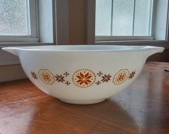 Vintage 4Qt Pyrex #444 Town and Country Cinderella Pyrex Mixing Bowl 1965