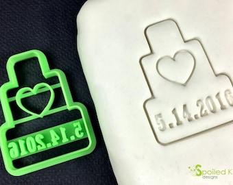 Custom Wedding Date Cookie Cutter Bridal Shower Wedding Favor Unique Wedding Gift
