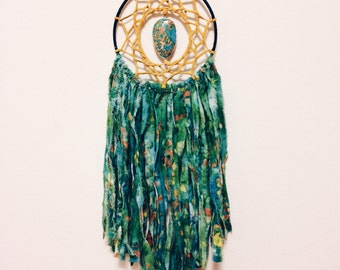Green Tie Dye Dreamcatcher