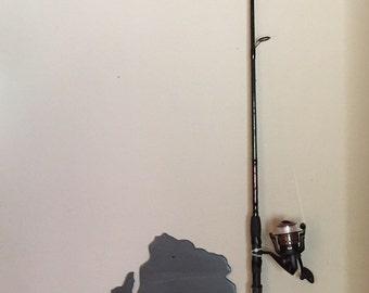 Fishing Pole Holder/ Fishing Pole Rack - wood