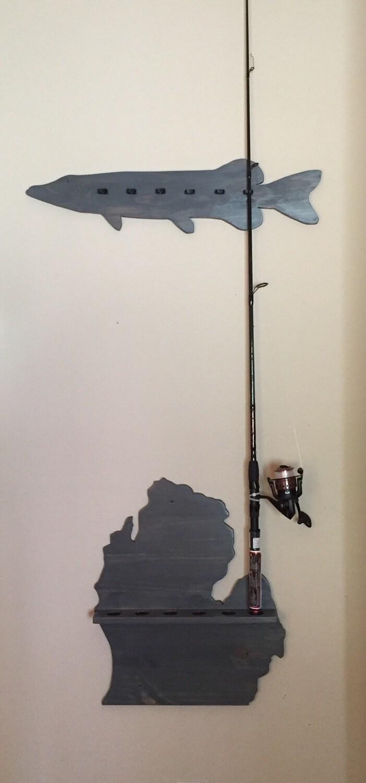 Fishing pole holder fishing pole rack wood for Wooden fishing pole holder