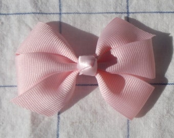 Pink Bow, Pink Ribbon Bow, Girls Bow, Baby Bow, Hair Bow,Ribbon Bow, Hair Accessories