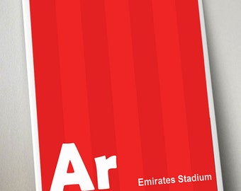 Arsenal Football Club Print Artwork - A4 Or A3 In Size