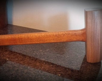 Woodworkers Mahogany hand made mallet