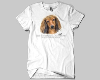 Red Long Haired Dacshund T-Shirt